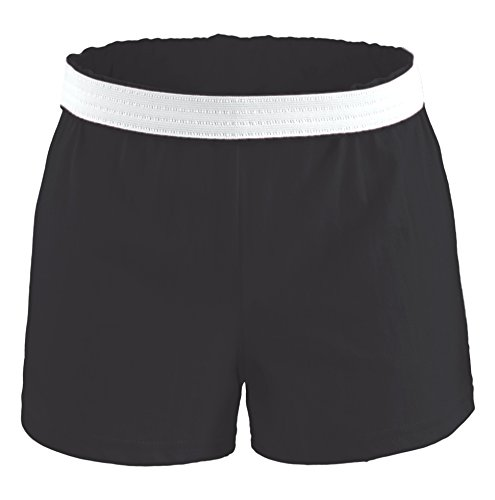 Soffe Youth Girls' Authentic Shorts, Black, Large - Poly Workout Short