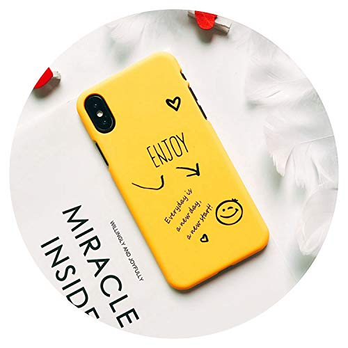 Matte Phone Case for iPhone 5 6 6S 7 7Plus 8 8Plus X Xs Max Cute Words Patterned Plastic Cover Coque for iPhone 7 Case,09,for iPhone - 4s Word Iphone Case