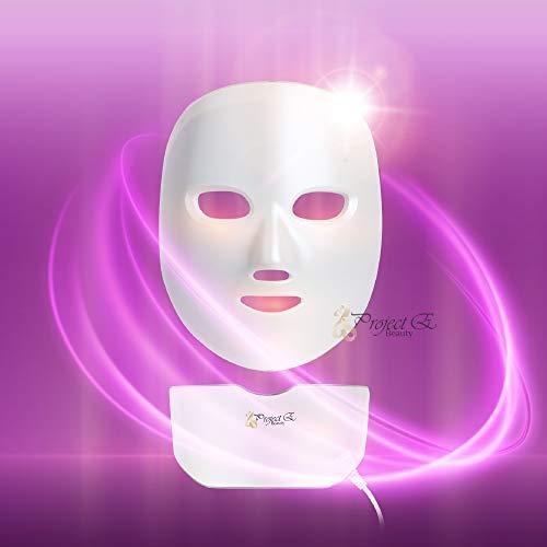 Project E Beauty 7 Colors LED Mask Face & Neck Photon Light Skin Rejuvenation Therapy Facial Skin Care Wireless Mask by Project E Beauty (Image #3)