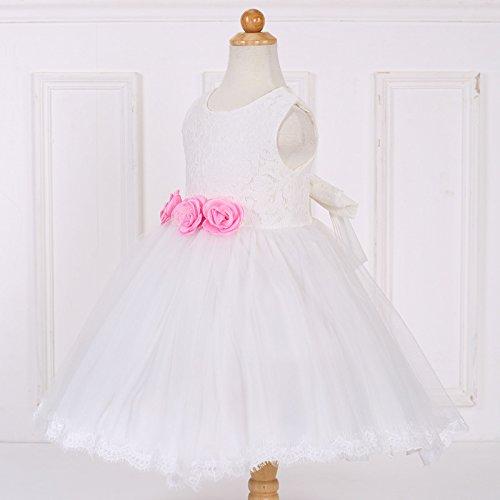 Vestidos cordón del elegantes de de Rosa de ZAMME muchachas muchachas las las Tulle Z8dndgqO