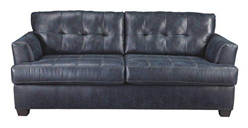 Benchcraft - Inmon Contemporary Upholstered Sofa - Navy -