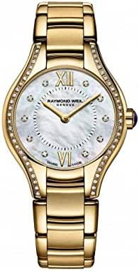 Raymond Weil Noemia Mother of Pearl Diamond Yellow Gold PVD Steel Ladies Watch 5124-PS-00985