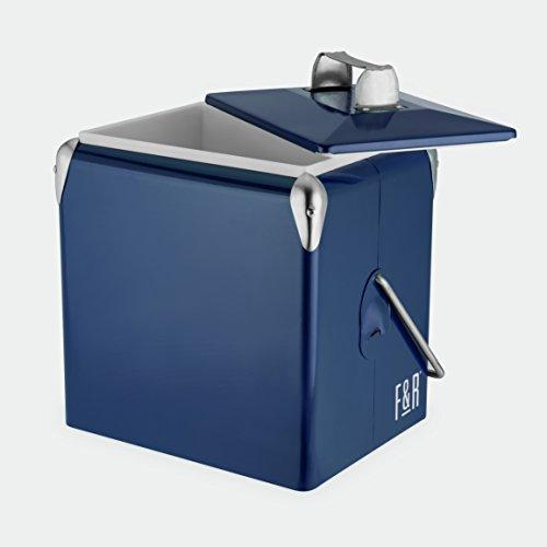 Foster & Rye 7069 Vintage Metal Cooler, One Size, Blue, Set of - Color Green Aluminum Hunter