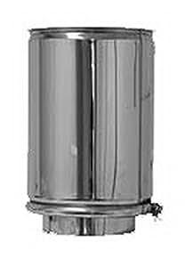 CHIMENEA PARED DOBLE ACERO INOXIDABLE CANNA FUMARIA TUBO parete doppia inox dn 250/300 lunghezza 0,25 mt
