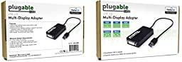 Plugable USB 3.0 to VGA / DVI / HDMI Video Graphics Adapter for Multiple Monitors up to 2048x1152 / 1920x1080 (Supports Windows 10, 8.1, 7, XP)