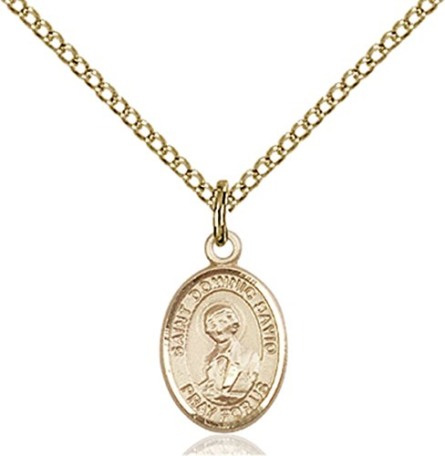 - Patron Saints by Bliss 14K Gold Filled Saint Dominic Savio Petite Charm Medal, 1/2 Inch
