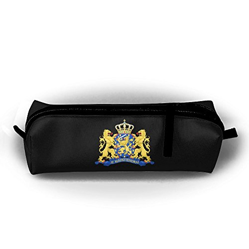 Coat Of Arms Netherlands Canvas Pencil Bag Holder Pen Case Stationery Makeup Cosmetic Pouch Bag With Zipper Netherland Coat Of Arms