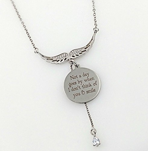 Memorial Remembrance Wing Charm Necklace - Chloe Sterling Silver Bracelet