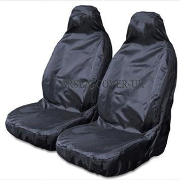 Juego de 2 fundas para los asientos delanteros color negro resistentes e impermeables
