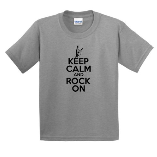 Keep Calm Rock Youth T Shirt