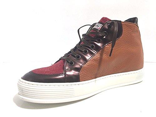 Yab Alta Sneacker Scarpe Marrone U17ya05 Loden Artigianale Uomo Pelle Rosso rScrWntgq