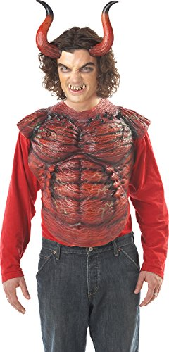 California Costumes Men's Hellion Horns W/Teeth,Red,One Size Costume
