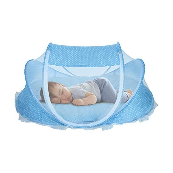 KASSY POP CURATED JUST FOR YOU Thick and Comfortable Cotton Protective Baby Bedding with a Mosquito Net, Pillow for Baby