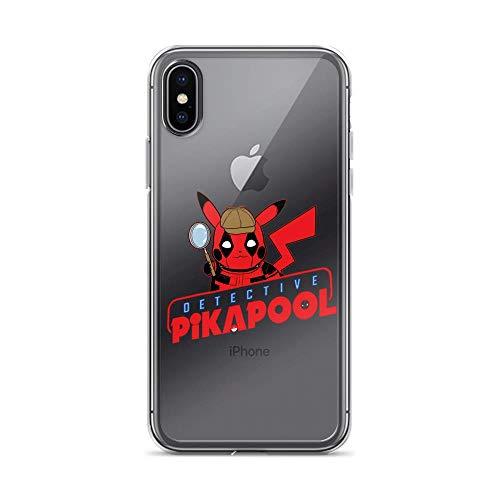 iPhone X/XS Pure Clear Case Cover Detective Pikachu Deadpool Pikachu PikaPool -