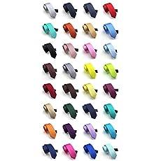 Elviros Mens Eco-friendly Fashion Solid Color Slim Tie 2.4'' (6cm)