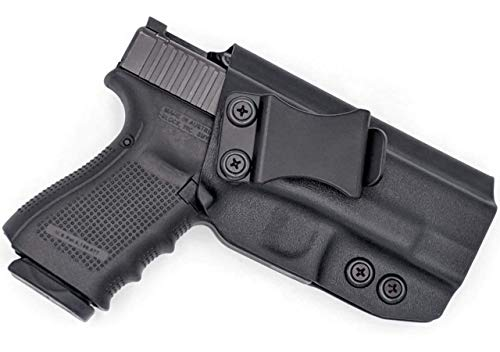 Concealment Express IWB KYDEX Holster: fits Glock 17/19/22/23/26/27/31/32/33 (Gen 1-5) - US Made - Inside Waistband Concealed Carry - Adj. Cant/Retention (BLK, Right) (Best Glock 22 Iwb Holster)