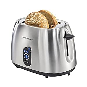 Hamilton Beach 2-Slice Stainless Steel Smudgeproof Digital Toaster | 22702 : Good buy, works great
