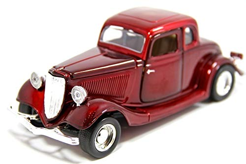 MotorMax American Classics 1932 Ford Coupe 1/24 Scale Diecast Model Car Red from Premium American Classics