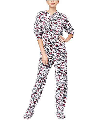reamer Printed Footed Jumpsuit, White, X-Large ()