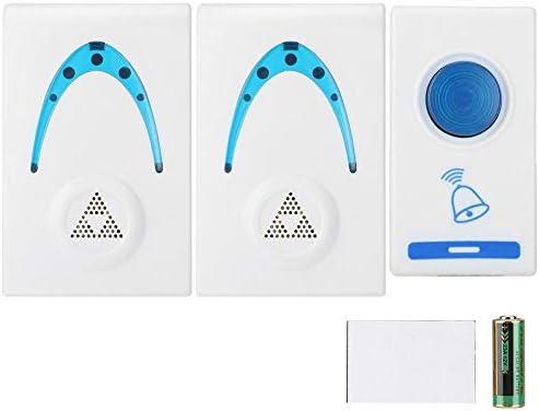 [해외]Tosuny Door Wireless Bells1 Remote Button and 2 Plugin Receiver 32 Melodies BellsLED Light Home Door ChimesMini Doorbell Chime Remind The Elder who Can`t Hear / Tosuny Door Wireless Bells1 Remote Button and 2 Plugin Receiver 32 Mel...