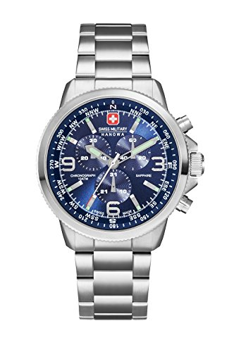 Swiss-Military-Herren-Armbanduhr-Laser-Chrono-Analog-Quarz-SM34208AEUH03MS