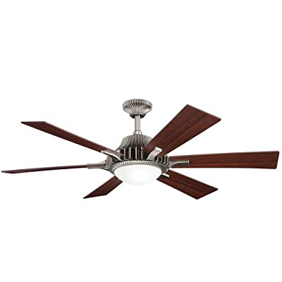 """Kichler 300136AP, Valkyrie Antique Pewter 52"""" Ceiling Fan with Light & Remote Control"""