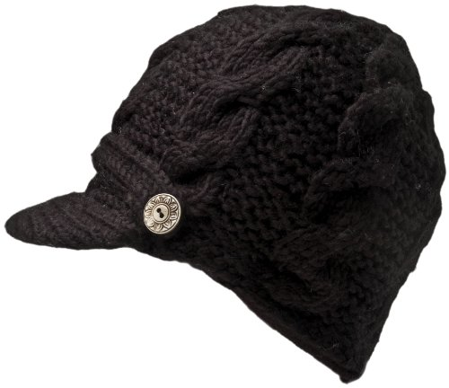Nirvanna Designs CH211 Equestrian Knit Visor with Fleece, Black