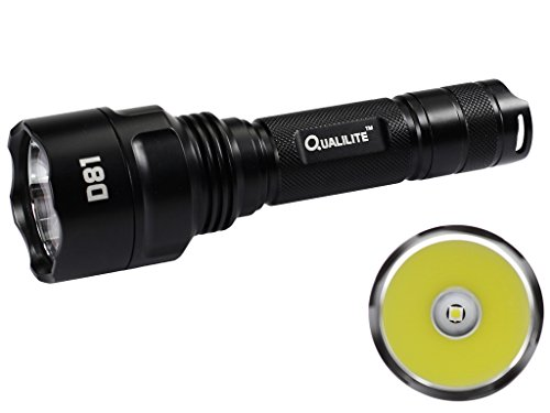 Qualilite D81 CREE XP-L HI White or Neutral White 1000 Lumens 2 Groups of 3 to 5-Mode LED Flashlight uses of 1×18650 or 2xCR123 (Neutral White 4500K) For Sale