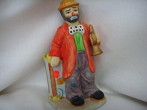 """Flambro Clown Porcelain Ornament Vintage Figurine 6"""" Collectible ; Emmet Kelly Jr."""