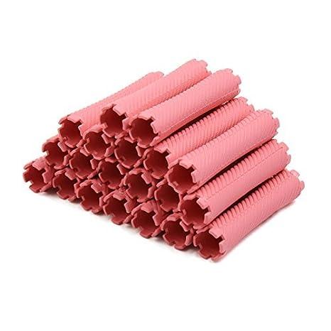 Amazon.com: Rodillo eDealMax 20pcs Mujeres rosadas plástica ...