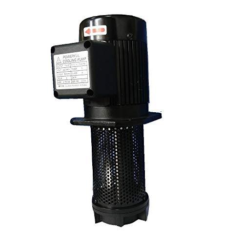 "1/6 HP Lathe BandSaw Machine Tool Circulation Coolant Pump, Immersion Length 150mm (6""), NPT 1/2"" Thread, Single 1 Phase 110/220V"