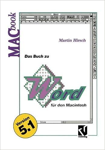 Das Buch zu Word für den Macintosh (MACbook) (German Edition)