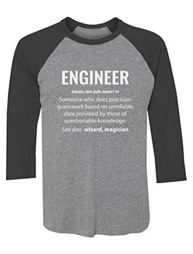 c4d214250d Tstars - Engineer Definition Noun Gifts Funny 3/4 Sleeve Baseball Jersey  Shirt Large Black