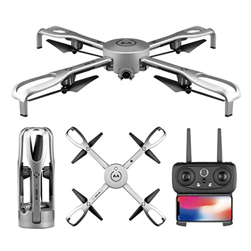 (❤️MChoice❤️Aititude Hold GPS Follow Me 1080P 90°Wide-Angle CAM RC Helicopter Foldable Drone Silver)