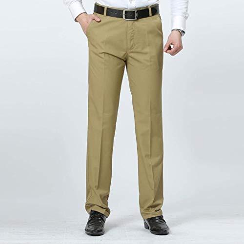 Pantalones Libre Traje Elegantes Hombre Casuales Para Moda Aire Largo Transpirables Al Sueltos Battercake Braun Algodón Deporte De Verano Cómodo 6wET6d