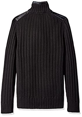 Calvin Klein Jeans Men's Cargo Mixed Guage Full Zip Sweater