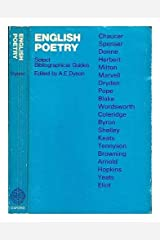 English Poetry: Select Bibliographical Guides Paperback