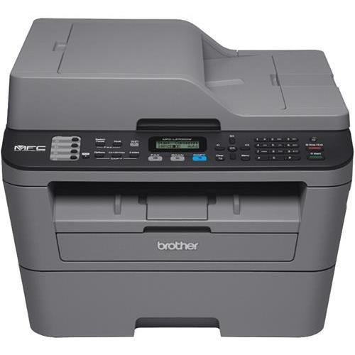 (Brother MFC-L2700DW Laser Multifunction Printer - Monochrome - Plain Paper Print - Desktop - Copier/Fax/Printer/Scanner - 27 ppm Mono Print - 2400 x 600 dpi Print - 27 cpm Mono Copy LCD - 600 dpi Optical Scan - Automatic Duplex Print - 251 sheets Input -)