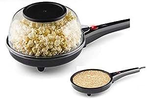 Práctico 2 en 1 para hacer palomitas máquina maker para crepes crepes Palomitero – Sartén para