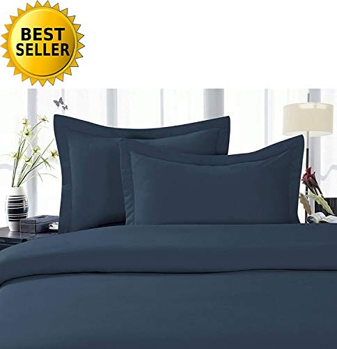 Celine LinenBest, Softest, Coziest Duvet Cover Ever! 1500 Thread Count Egyptian Quality Luxury Super Soft Wrinkle Free 2-Piece Duvet Cover Set, Twin/Twin XL, Navy Blue
