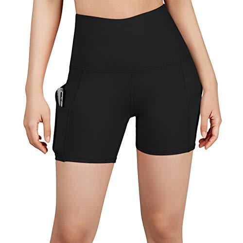 ODODOS Women's 5″/2.5″/9″ High Waist Bike Shorts with Pockets Workout Sports Athletic Running Biker Yoga Shorts
