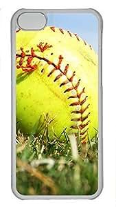 Shell Case for iPhone 6 plus 5.5 with Yellow Softball DIY Fashion PC Transparent Hard Skin Case for iPhone 6 plus 5.5 WANGJING JINDA
