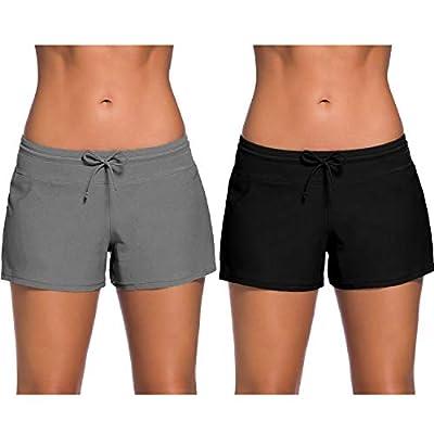 Xgood 2 Colors Women Swim Shorts Swimsuits Boardshorts Swimwear Beach Shorts 6 Sizes at Women's Clothing store