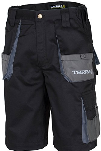 Terra 10-0103-BK40 Drill Heavy Duty Multi Pocket Cargo Work Shorts, 40