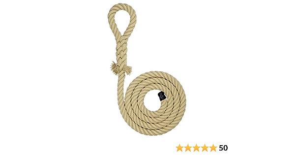 Cuerda de escalada con empalme de ojo, diversas longitudes, idónea para columpios