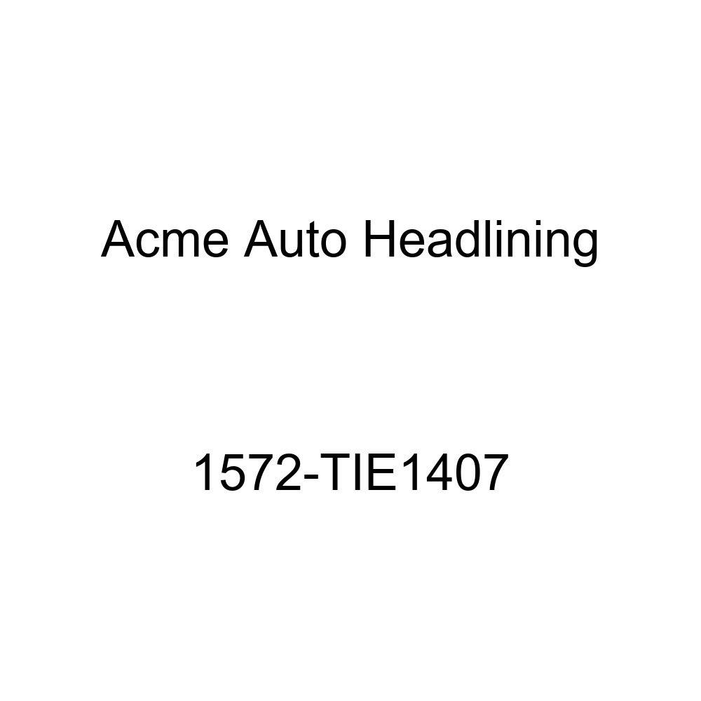 Acme Auto Headlining 1572-TIE1407 Dark Brown Replacement Headliner 1957 Pontiac Chieftain, Star Chief 2 /& 4 Door Wagon 6 Chrome Bows