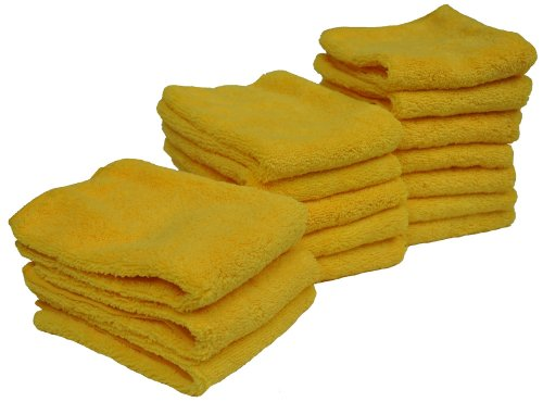 Detailer's Preference Eurow Microfiber 14in x 17in 300 GSM Cleaning Towels High Pile 15-Pack