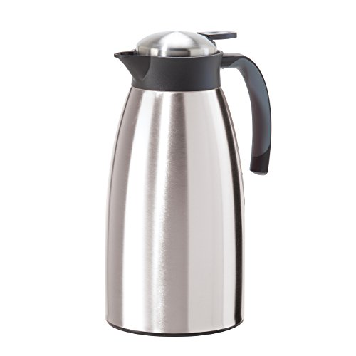 Oggi 68 oz Versa Thermal Vacuum Hot or Cold Carafe with Press Button Top, Stainless