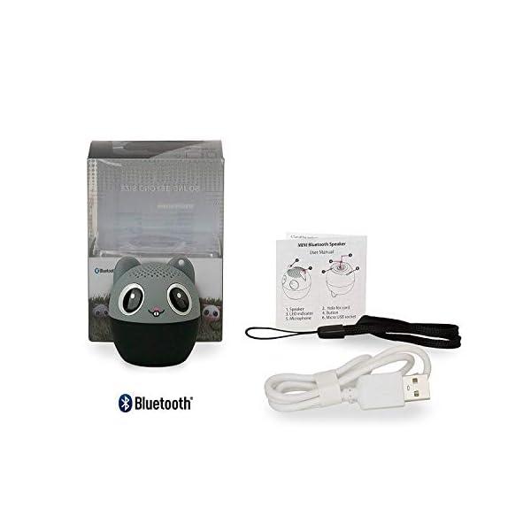 TBS2520 Mini Enceinte Bluetooth sans Fil - Mini-Animal Souris - Super Mignon & Puissante - 3 Watts - Kit Main-Libre Téléphone & Selfie - Appli pour Jouer - pour iPhone Samsung Huawei etc & Tablette 3
