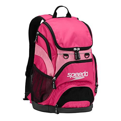 Speedo Printed Teamster 35L Backpack, Fuchsia/Black, 1SZ
